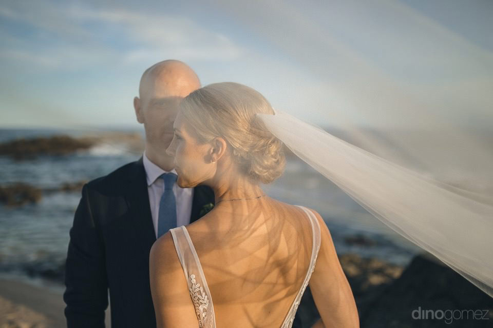 Couples Photograph On The Beach - Megan & Andrew'S Wedding