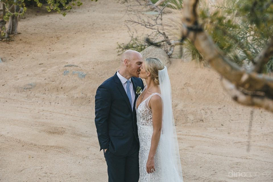 Desert photo of the bride and groom - Megan & Andrew's Wedding