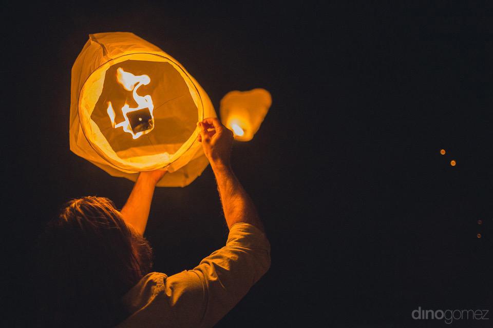 Wish lanterns heart shaped - Chiara & Jeremee