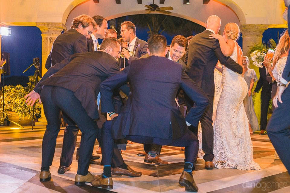 The groomsman dancing - Megan & Andrew's Wedding