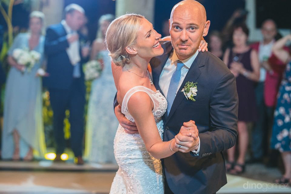 Newlyweds dancing - Megan & Andrew's Wedding