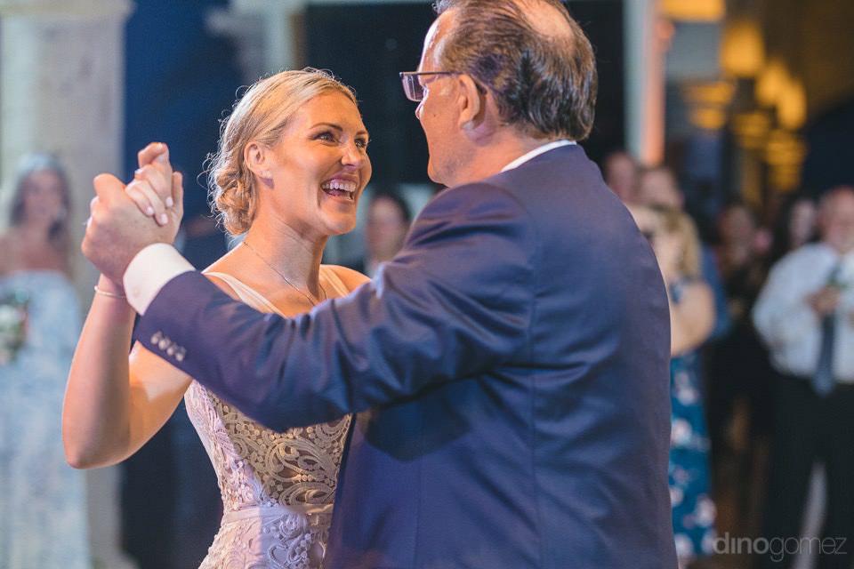 The bride dancing with her dad - Megan & Andrew's Wedding