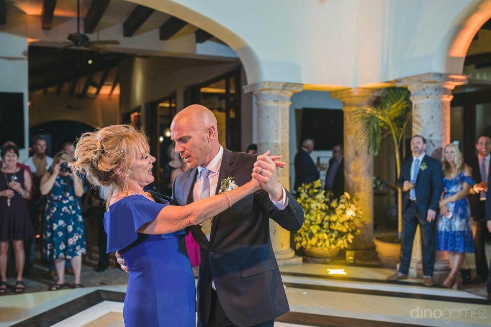 Room dancing with his mom - Megan & Andrew's Wedding