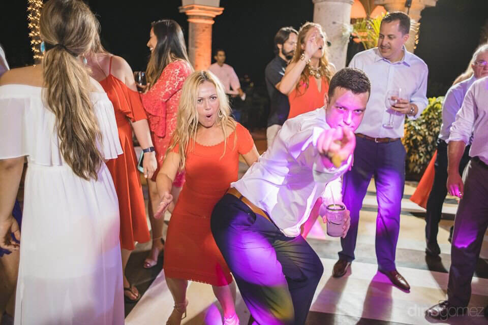 Party guests having fun - Megan & Andrew's Wedding