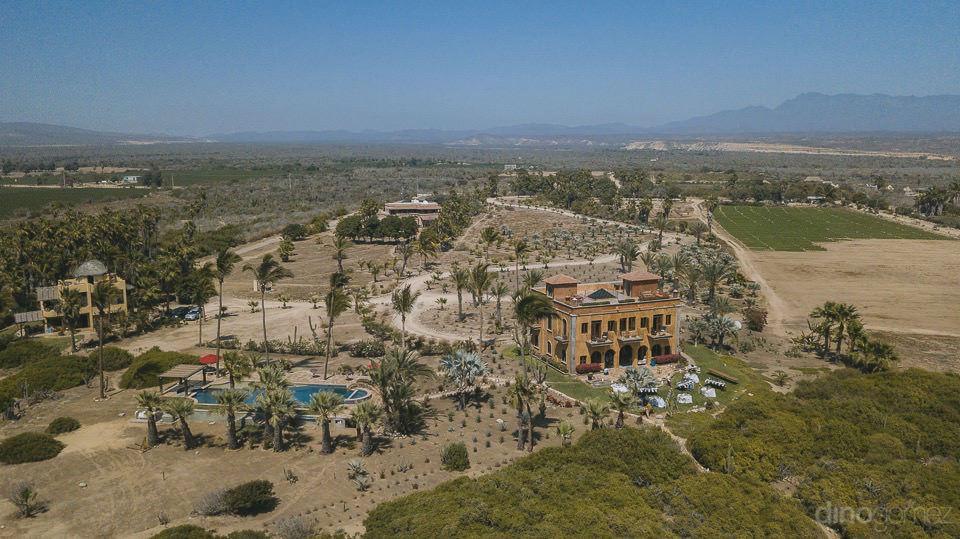 Aereal photograph Villa Santa Cruz - Rachel & Destin