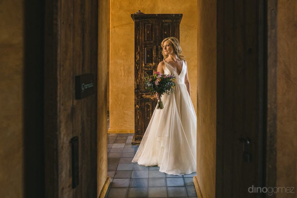 Creative photograph of the bride - Rachel & Destin