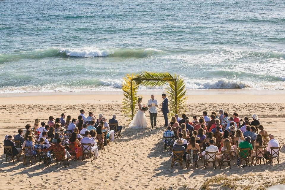 beach wedding ceremony - Rachel & Destin