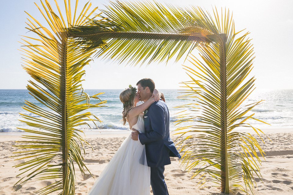 first kiss on the beach - Rachel & Destin