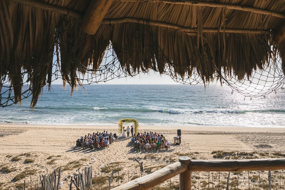palapa view of the ceremony - Rachel & Destin