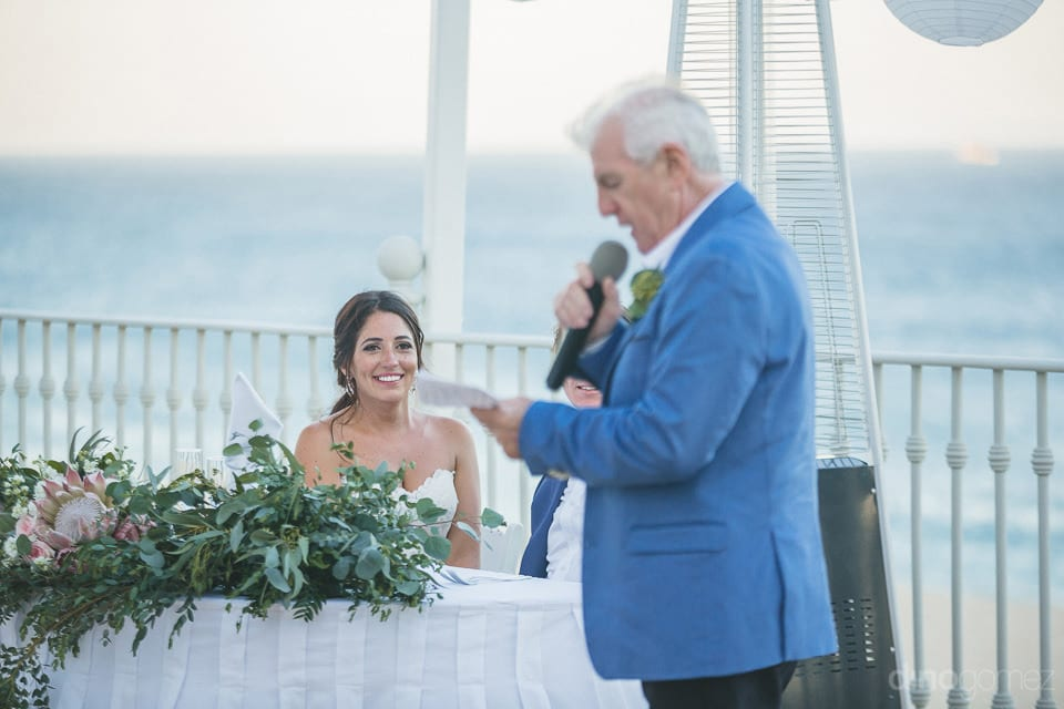 A family member saying a few words of love on the big day of the beautiful couple- Audrey & Chris