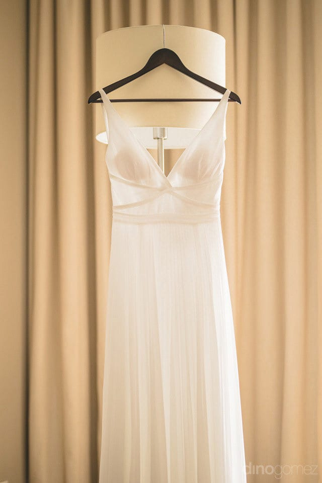 Beautiful dress of the bride Lindsay for thw wedding day