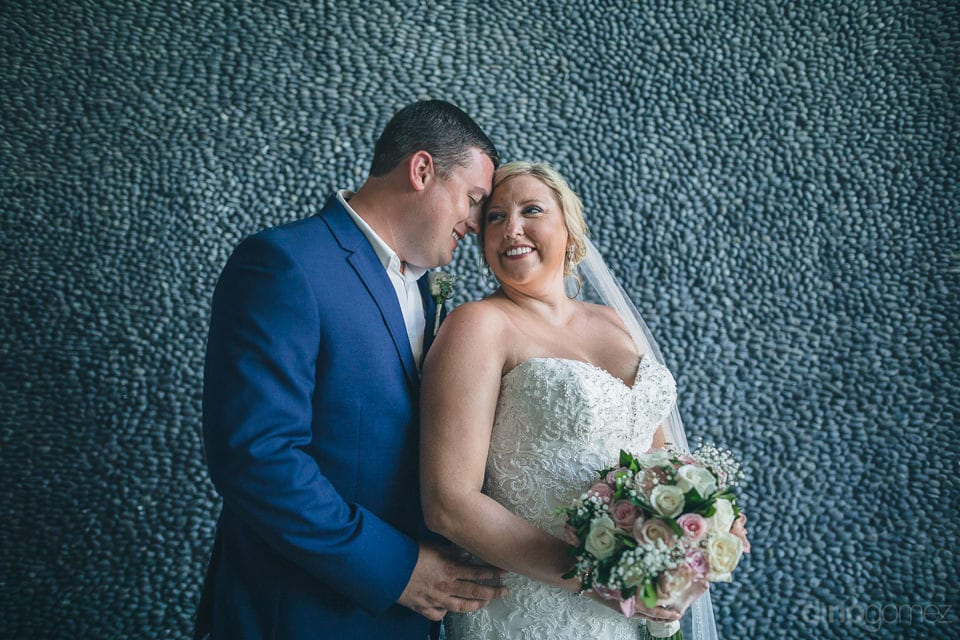 The couple is looking adorable while giving a forever pose immidiately after their wedding-Shannon & Jordan