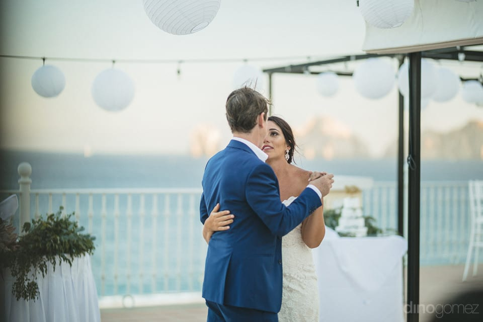 Bride and groom lost into each others eyes during their wedding dance- Aubrey & Chris
