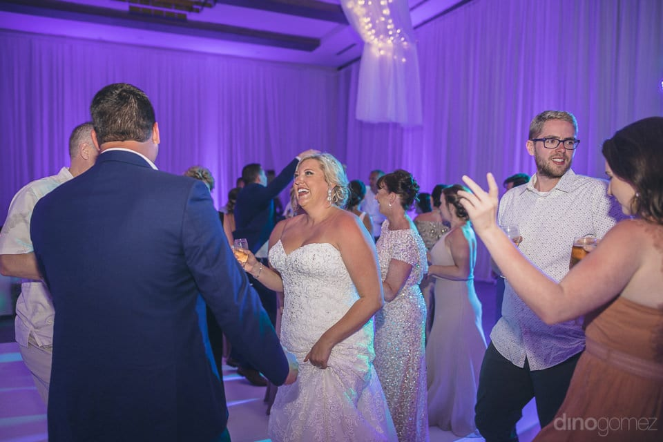 Lovely couple is dancing, drinking and talking to the guests at the reception party of the beautiful couple- Shannon & Jordan