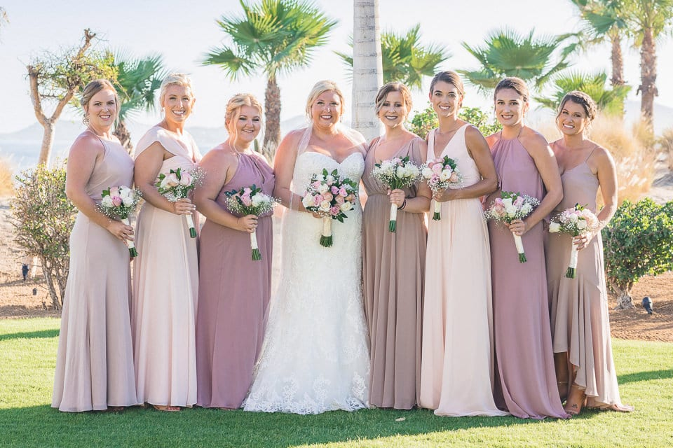 Bride looked magnificent while standing next to her bridesmaid at the wedding venue-Shannon & Jordan