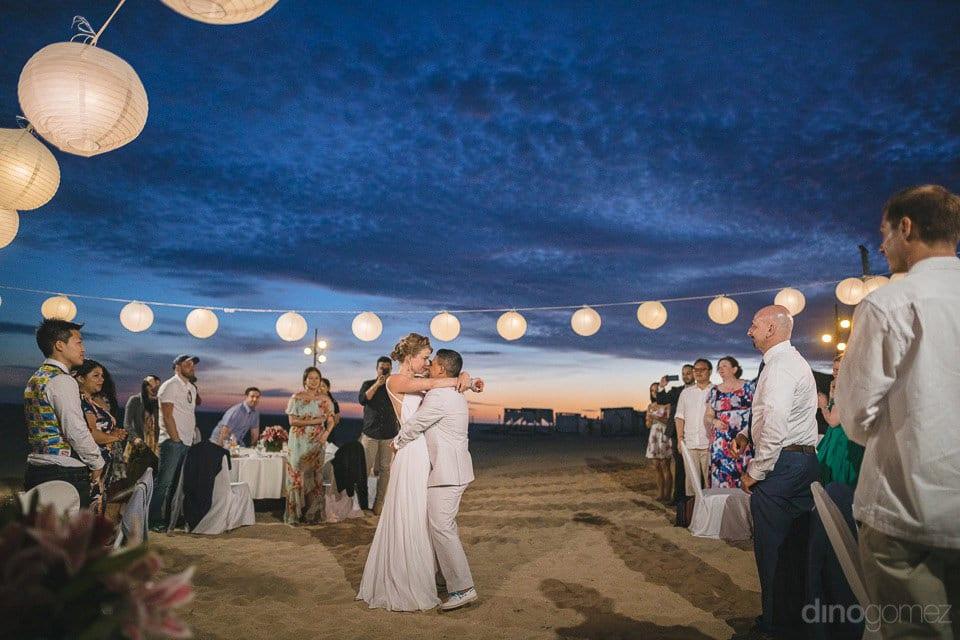 Romantic dance under the moon & stars of Lindsay & Clark