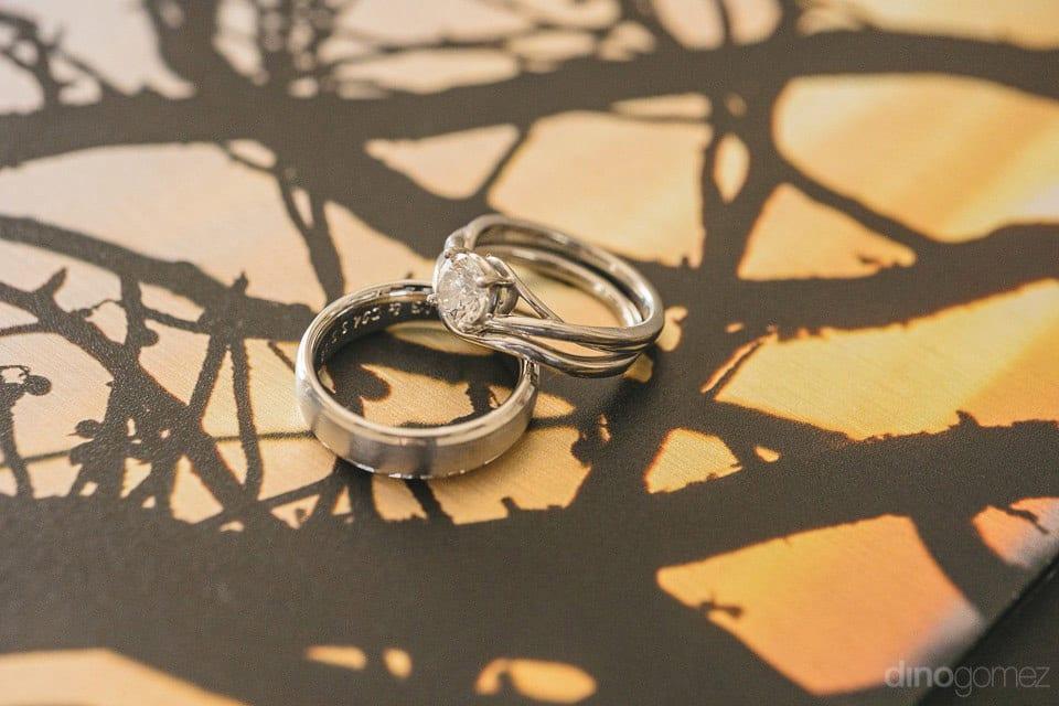 Wedding rings of Lindsay & Clark