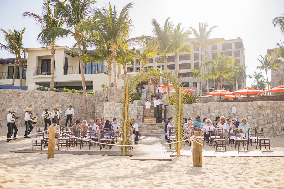 Picture captures the amazing wedding venue set at the beach side of the lovely couple- Nicole & Ryan