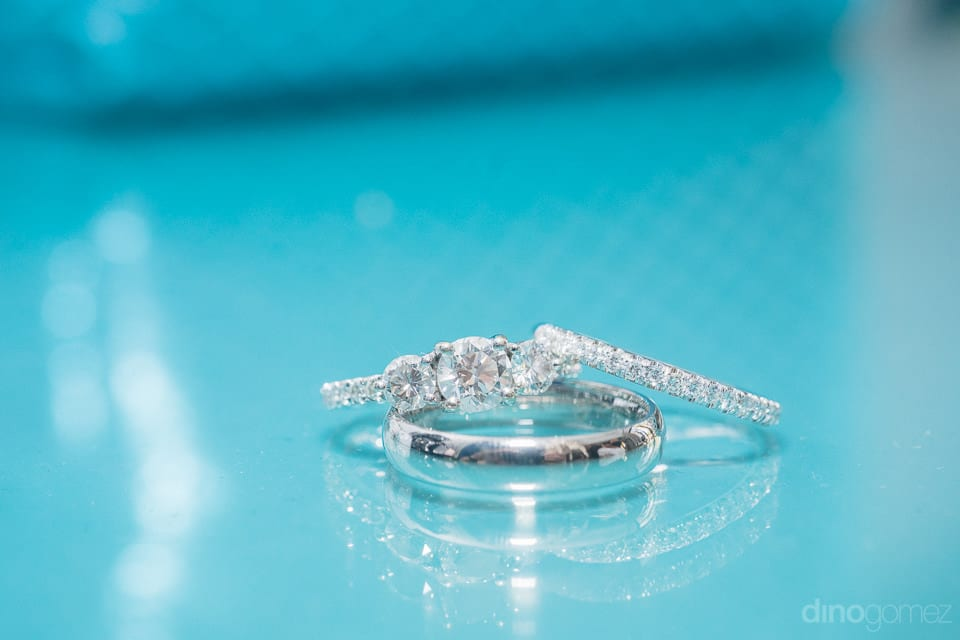 Diamond Wedding Rings To Be Exchanged Of The Couple Is Captured In The Picture- Christina & Steve