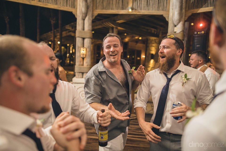 Handsome groom and his friends are enjoying the dance party to the fullest- Nicole & Ryan