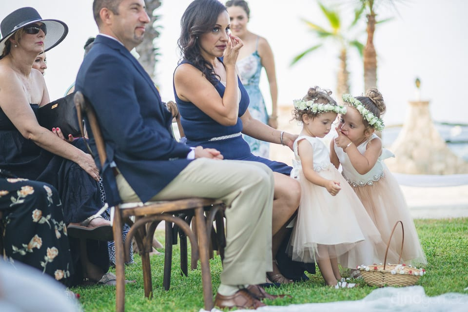 A beautiful couple with two young girls are attending the wedding ceremony of lovely couple- Christina & Steve
