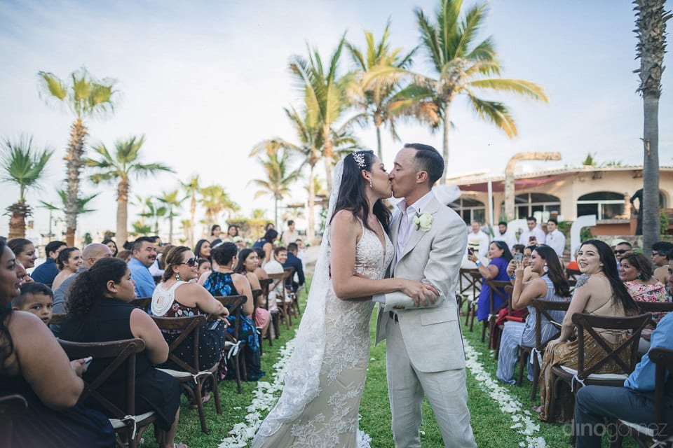 Lovely Newly Married Couple Is Kissing Each Other Immidiately After The Completion Of Wedding Ceremonies- Christina & Steve