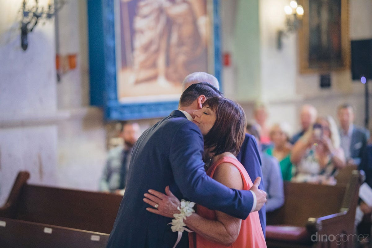 A young lady and a gentleman can be seen hugging each other at the wedding venue- Kathleen & Kevin