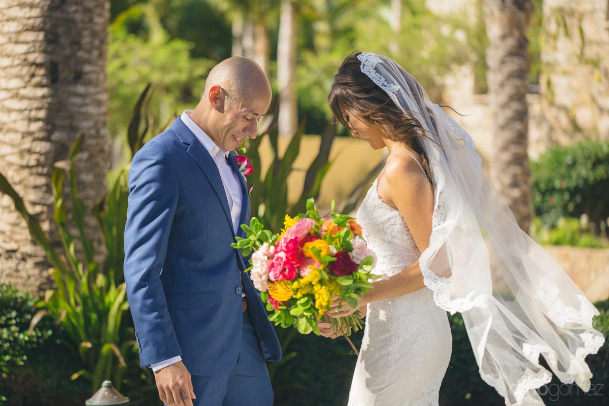 A beautiful shot of the lovely couple walking normally after the wedding ceremonies is taken- Nikki and David