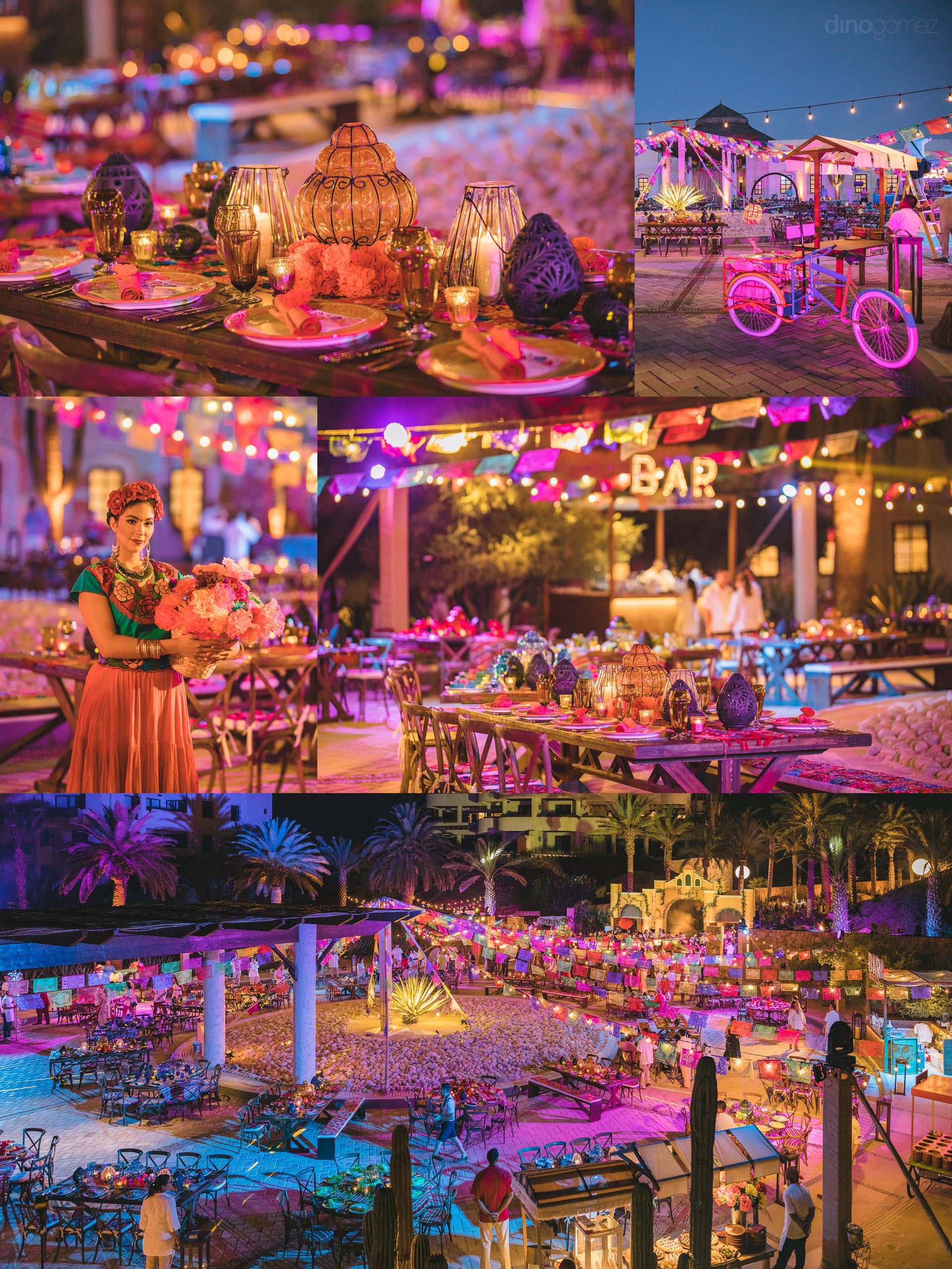 Best Cabo Photographer on a Lavish Mexican Theme Wedding Inspiration Board