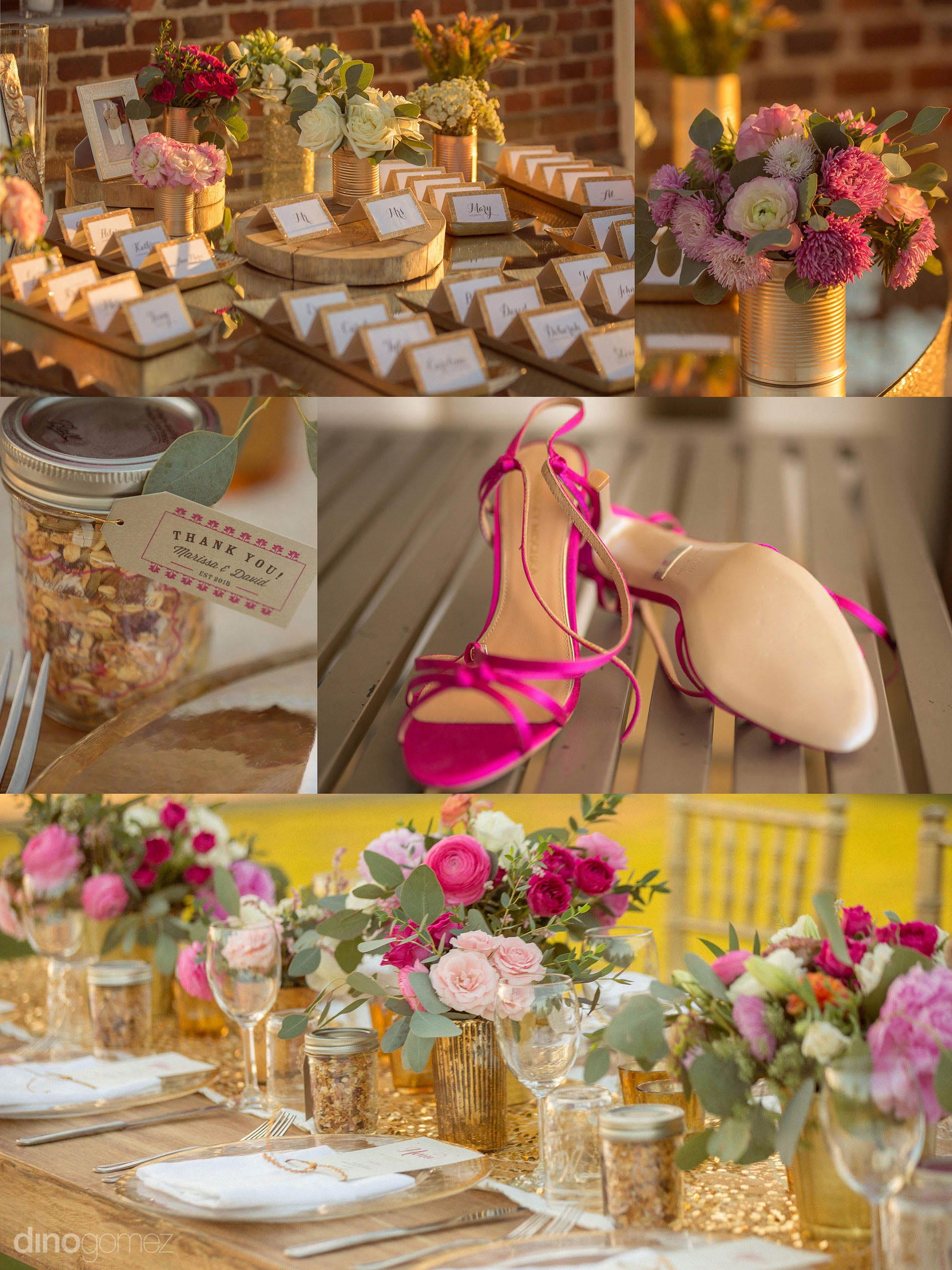 Cabo Photographers Tickled Pink and Gold Inspiration Board