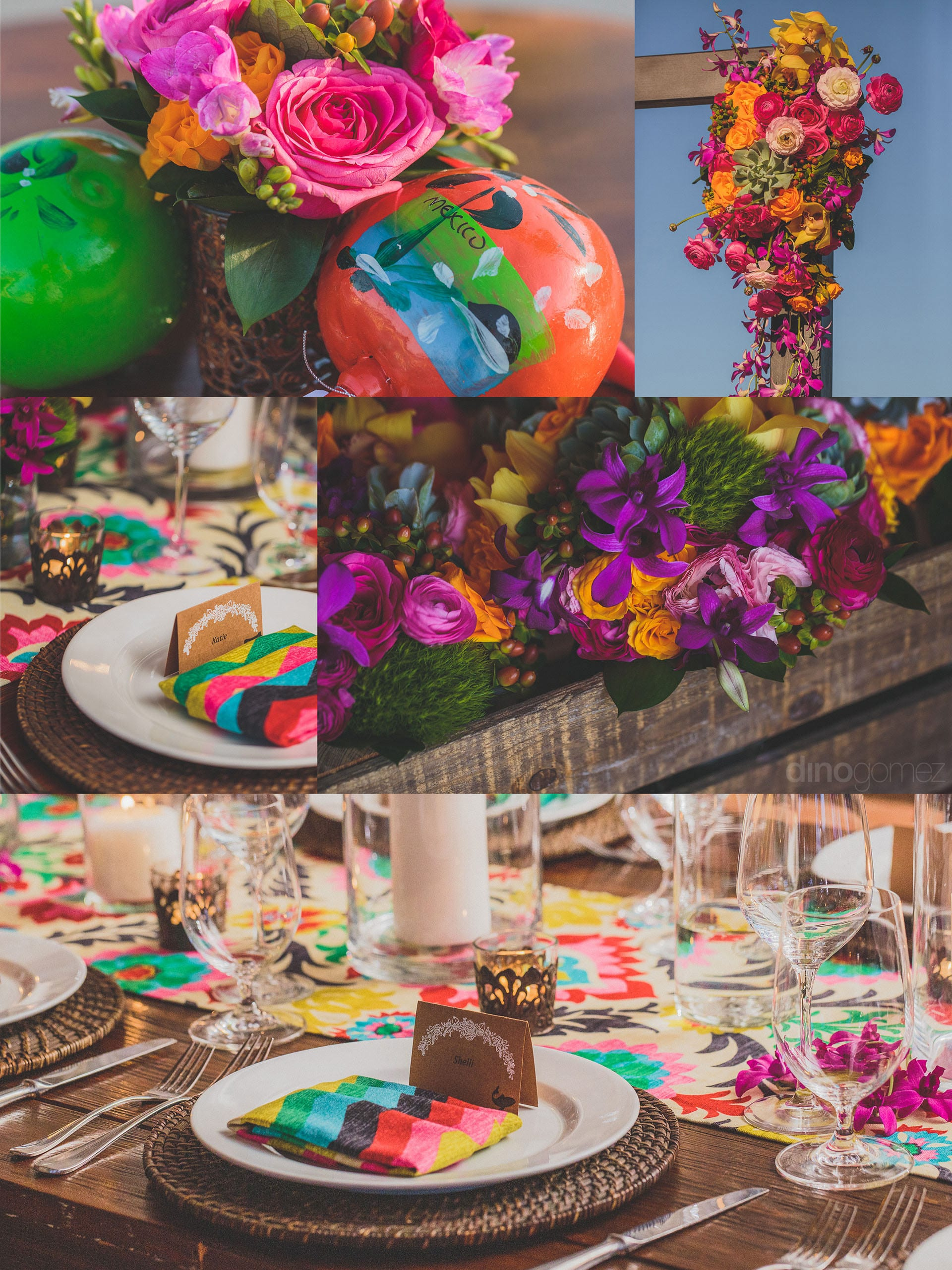 Cabo Wedding Photographer colorful and fun Inspiration Board