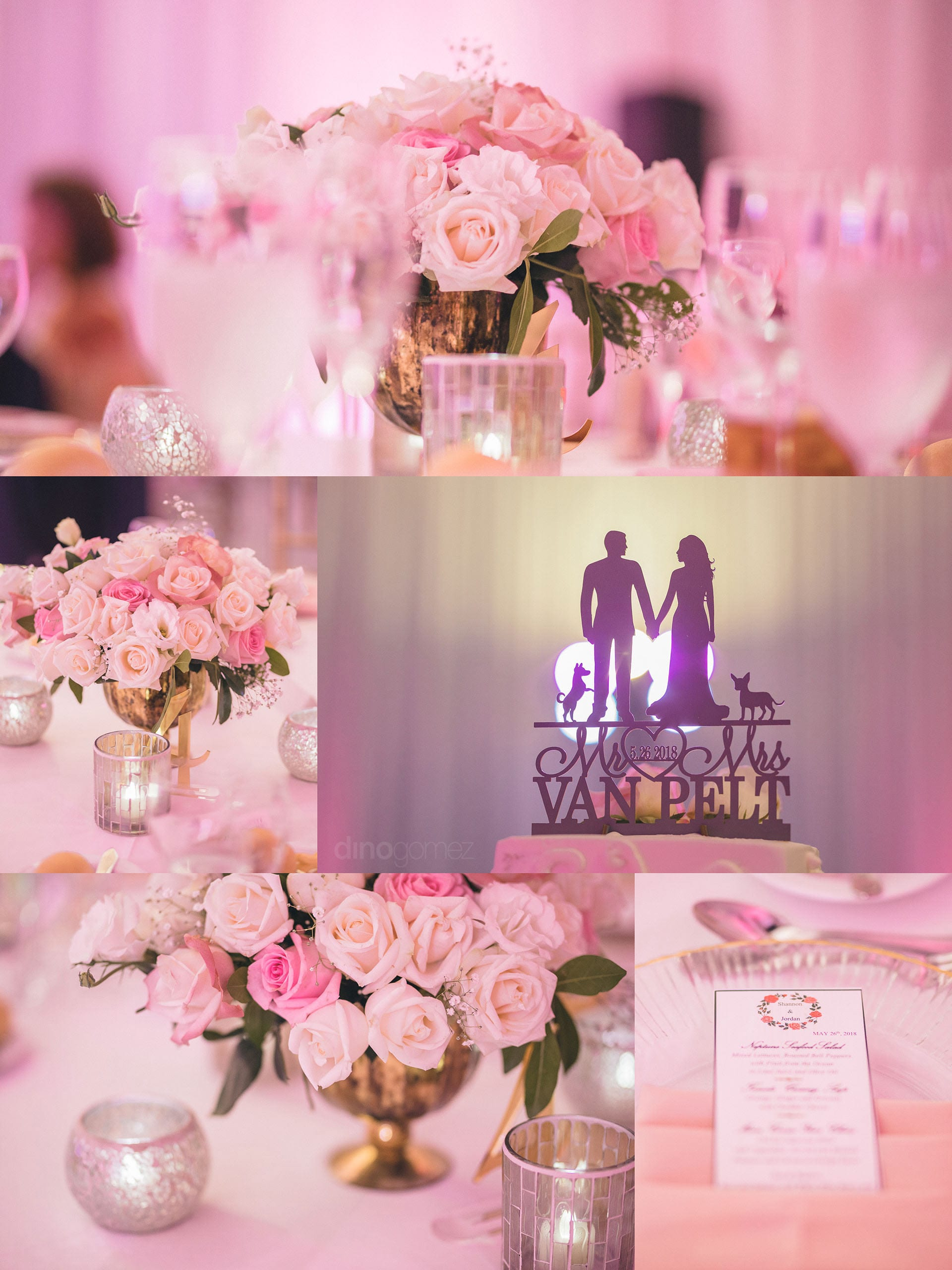 Los Cabos Wedding venues with a pink blush romantic Inspiration Board