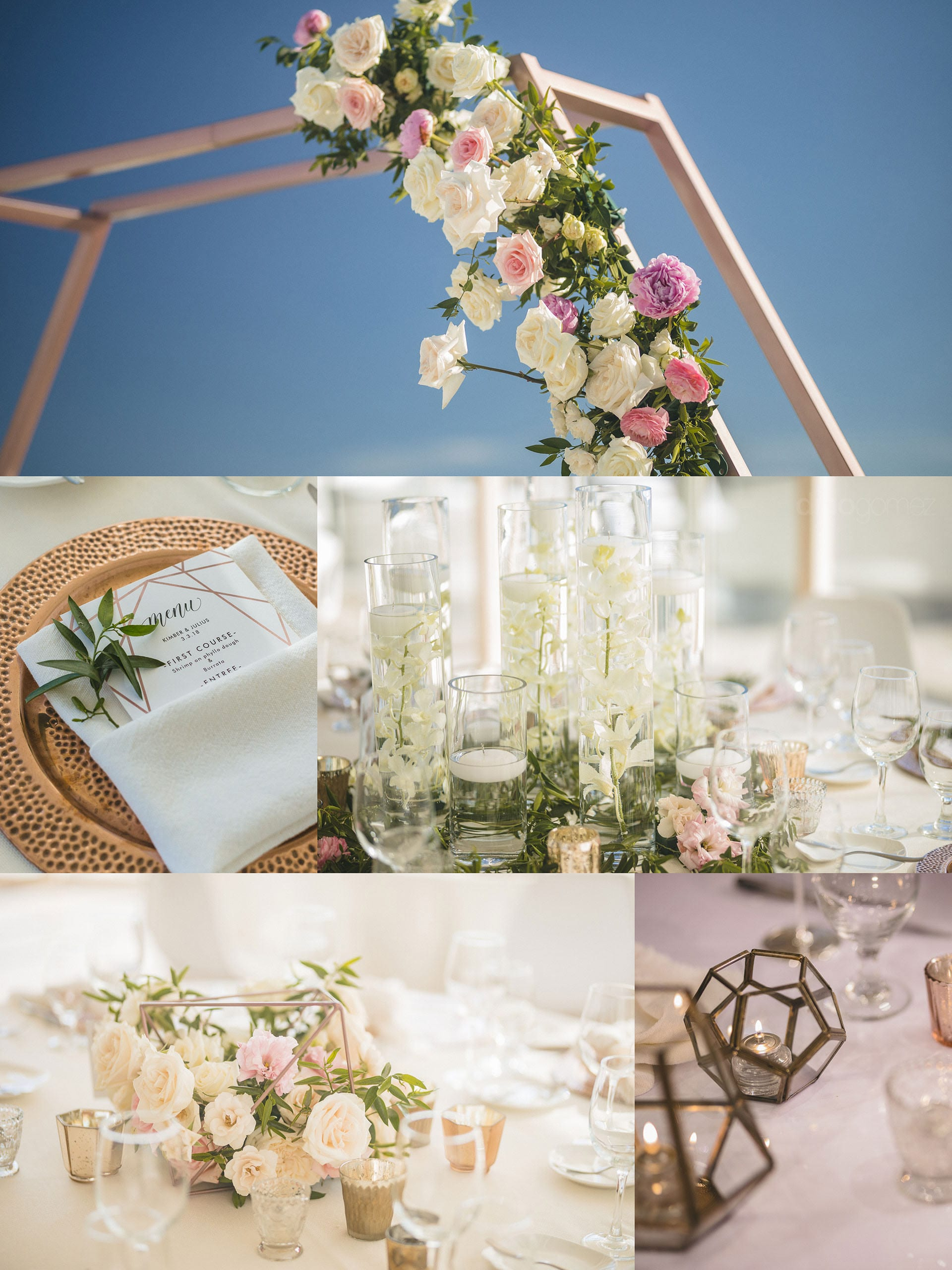 Los Cabos Wedding Photographers Modern Lines Pink White Inspiration Board