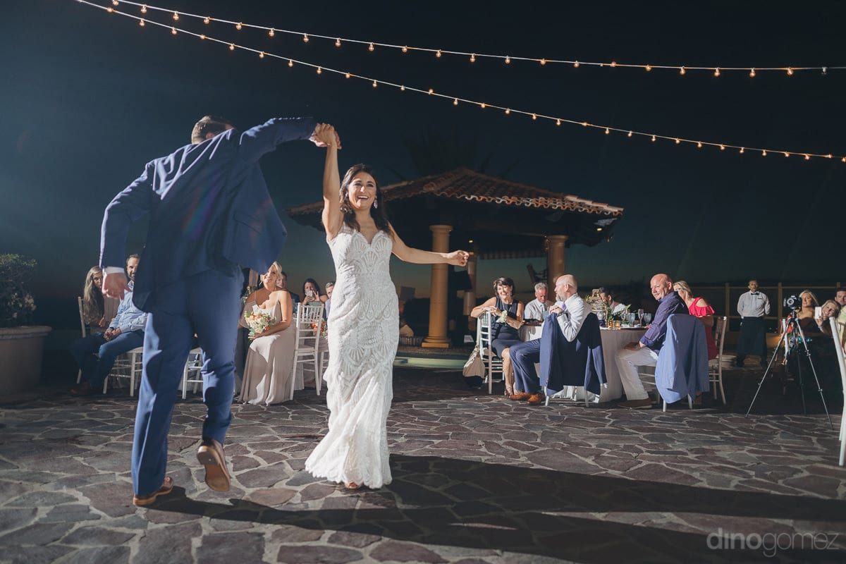 The Gorgeous Couple Can Be Seen Performing A Couple Dance At The Evening Reception Party- Kathleen & Kevin
