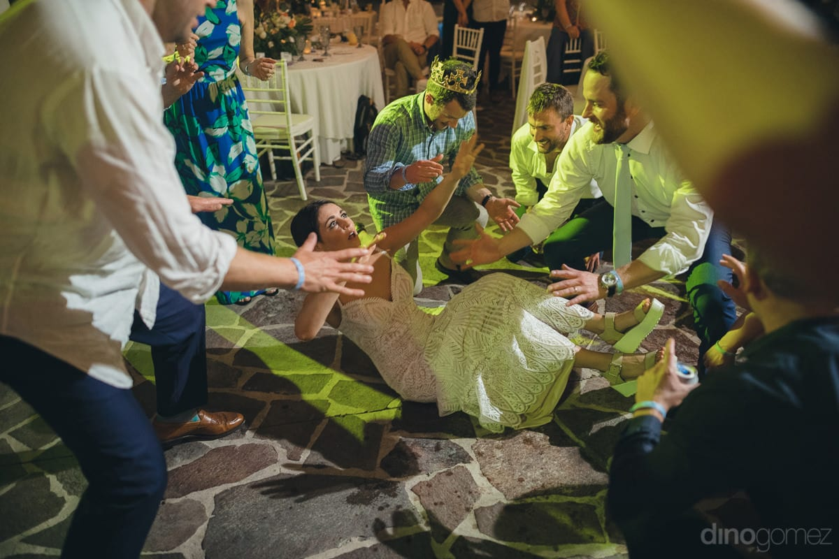 The Picture Looks Like The Lovely Bride Fell On The Floor While Dancing With The Wedding Guests- Kathleen & Kevin
