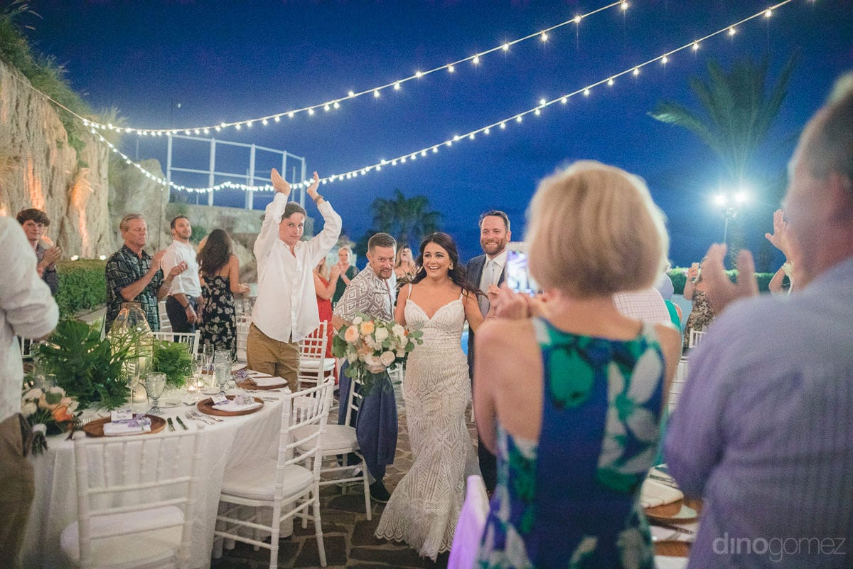 Newly married couple can be seen entering the reception party with full excitement- Kathleen & Kevin