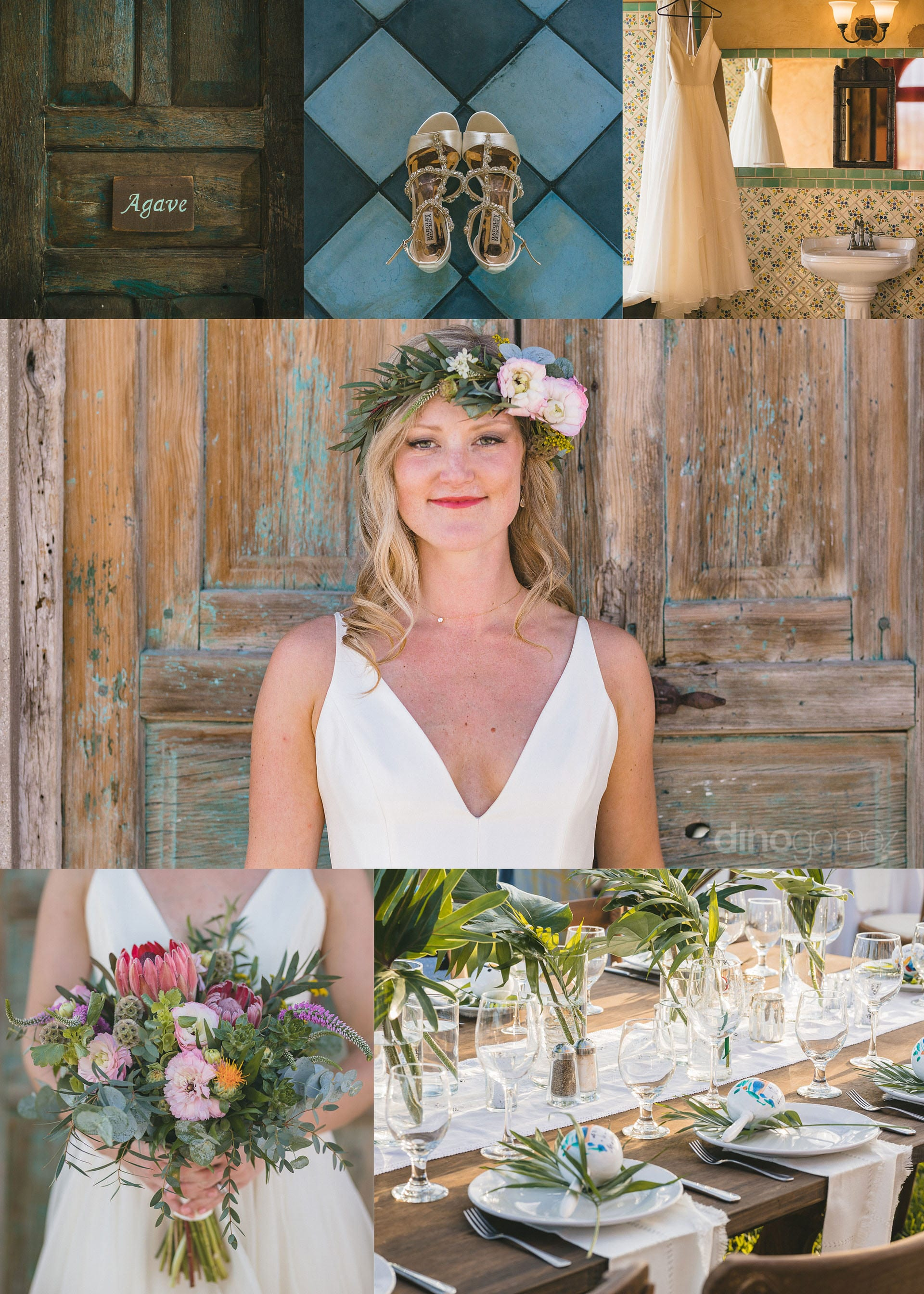 Photographer in Cabo San Lucas BOHO themed wedding inspiration board