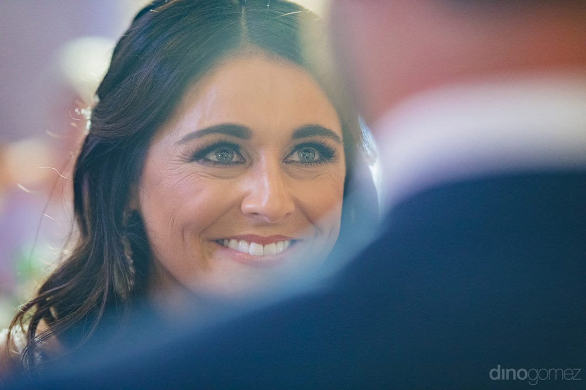 A super happy bride with a broad smile can be seen in this picture- Kathleen & Kevin