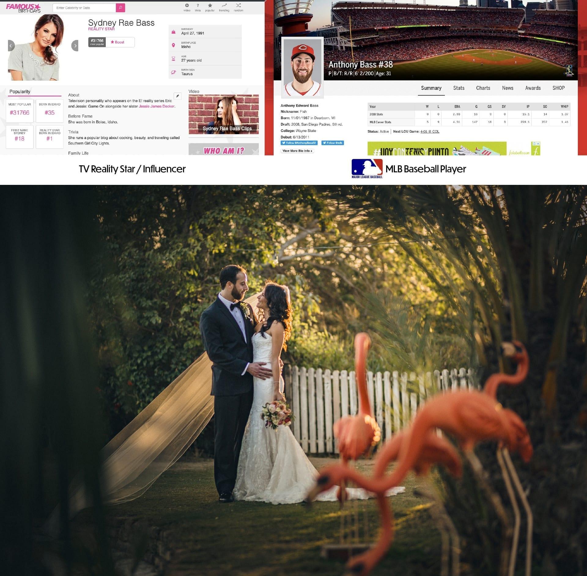 Fotografia Internacional de bodas para celebridades y atletas profesionales