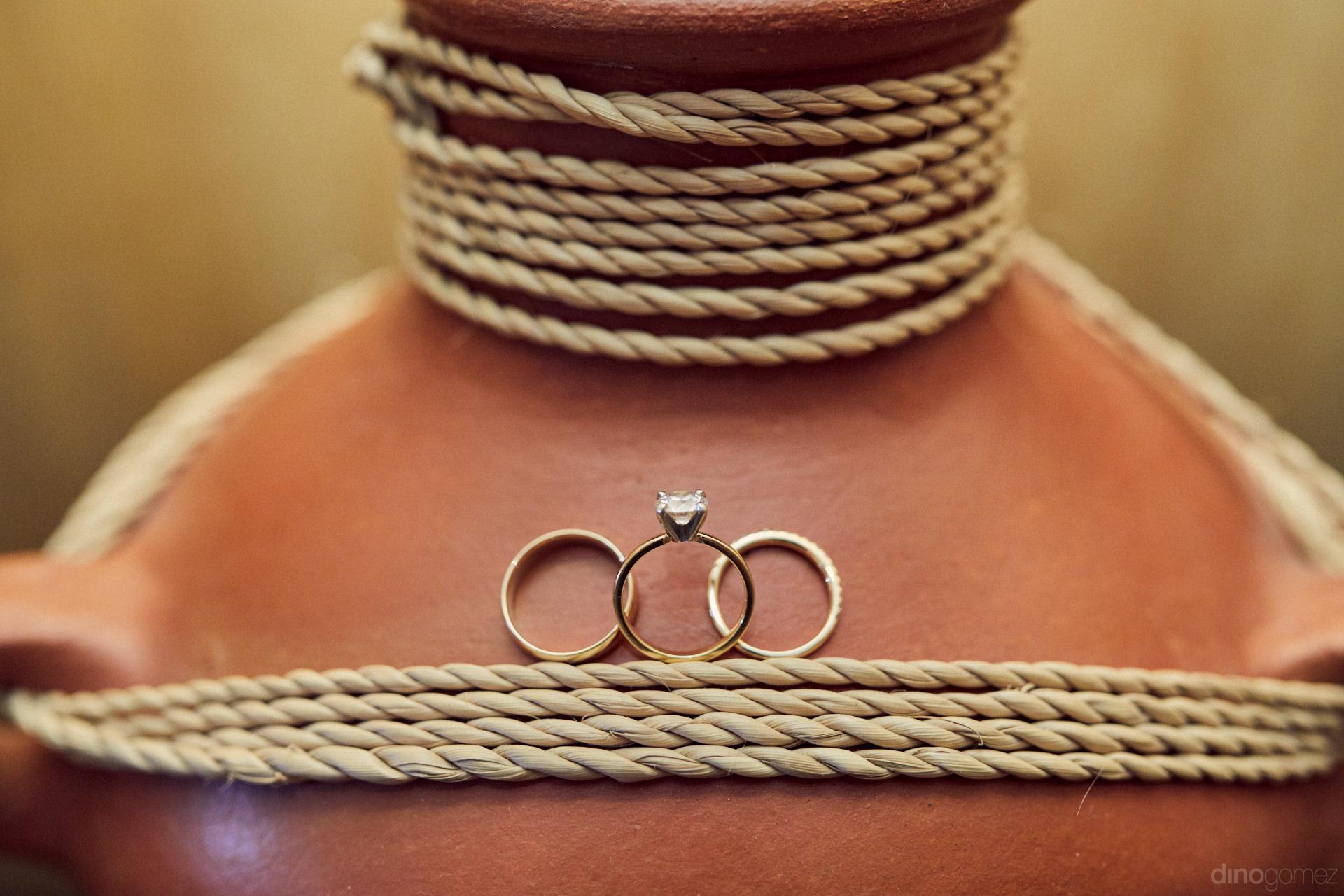 Wedding Rings For Destination Weddings In Los Cabos Mexico - Hilary & Bryan Flora Wedding