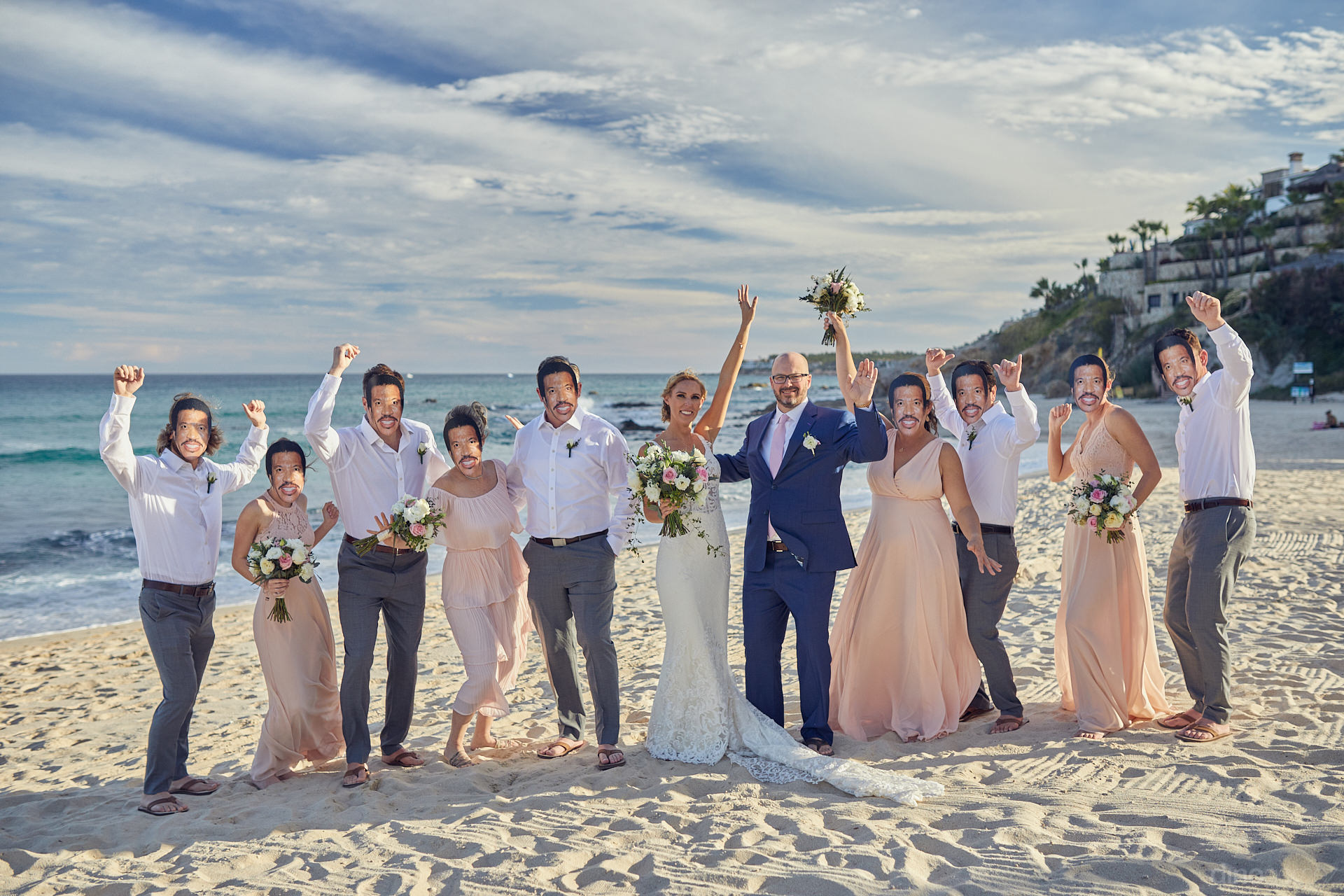 Luxury Weddings In Los Cabos With Lionel Richie Clones On The Beach
