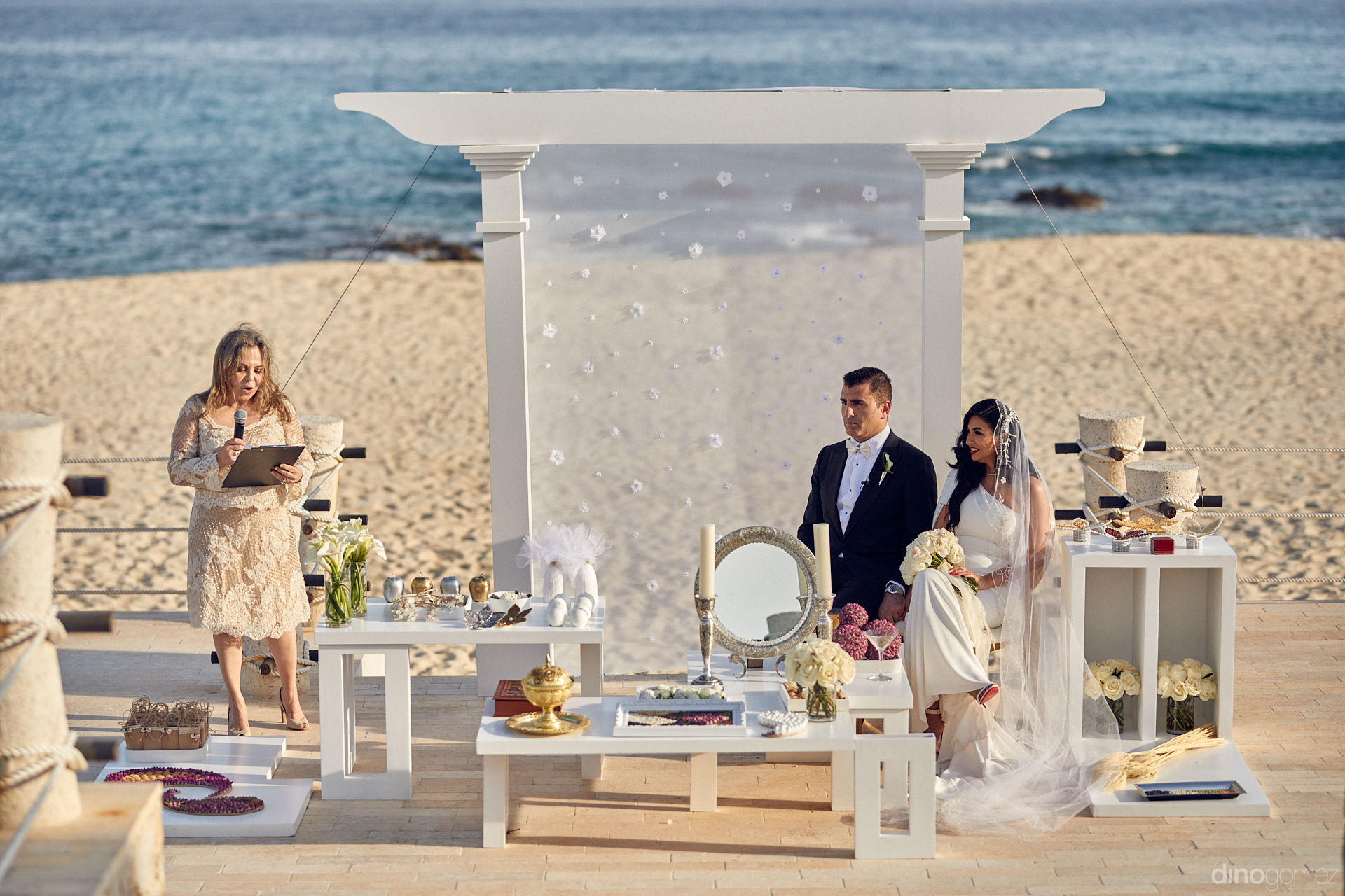 Persian Cabo Wedding Ceremony On The Beach