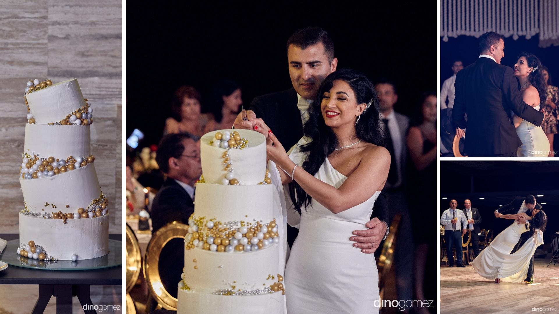Persian Wedding Cake Cutting In A Cabo Wedding