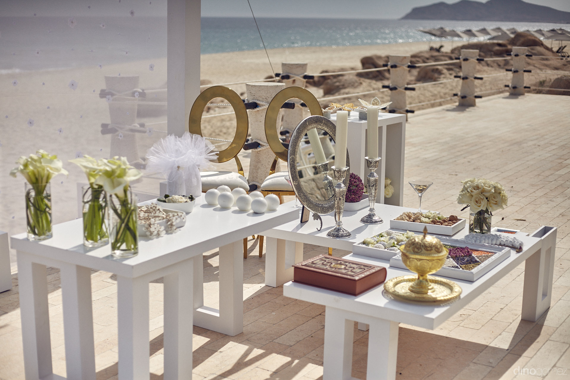 Persian Wedding Ceremony Table For A Destination Wedding In Cabo