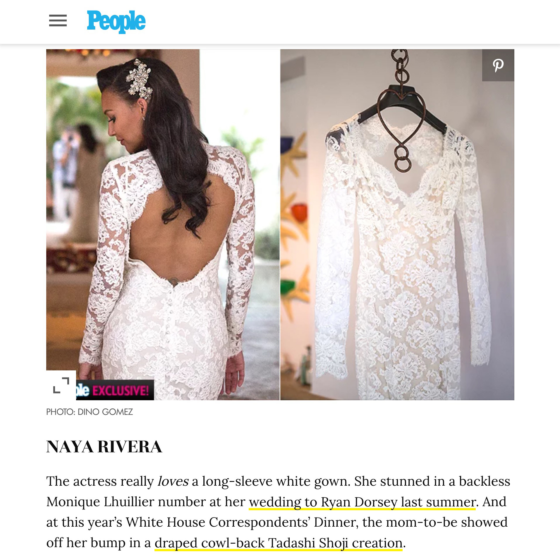 Naya Rivera Magazine Article