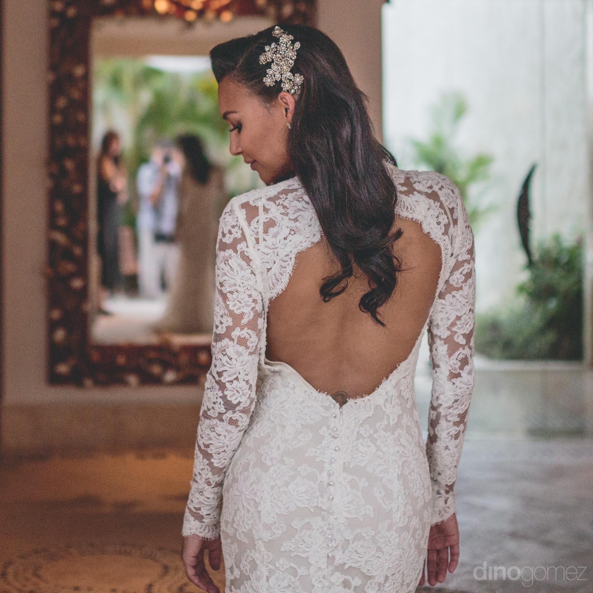 Naya Rivera Wedding Dress