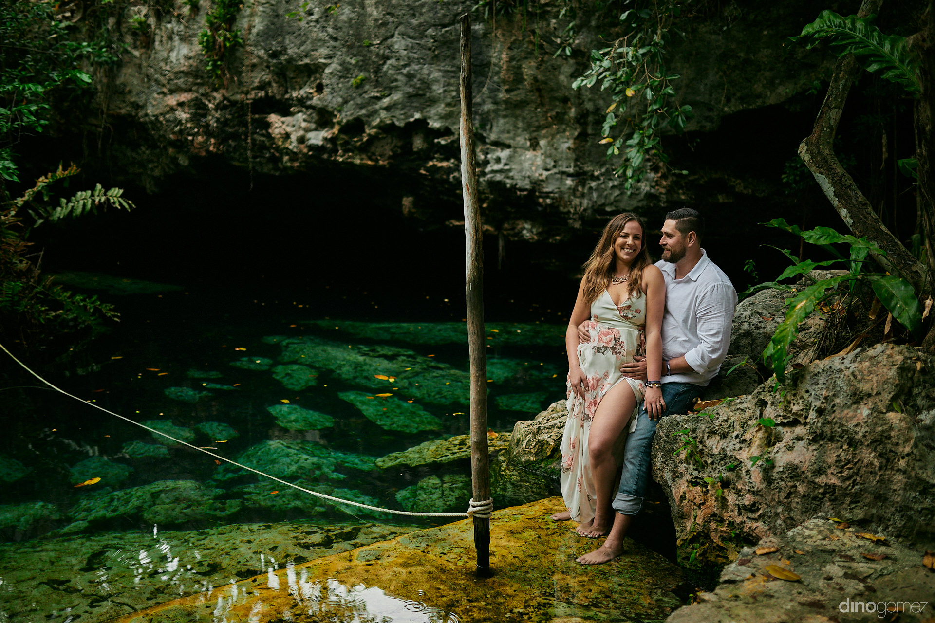 Exotic Photo Session At A Cave With A Cenote In Playa Del Carmen - Pdc - C&D