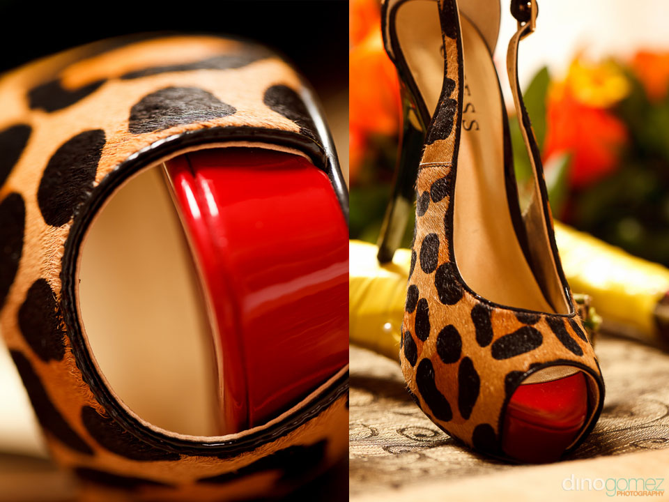 Stylish Guess leopard wedding shoes