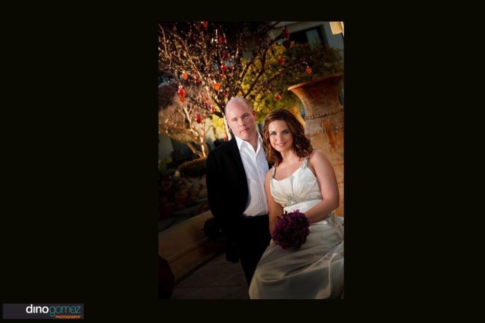 Romantic wedding photo of a couple at their destination wedding